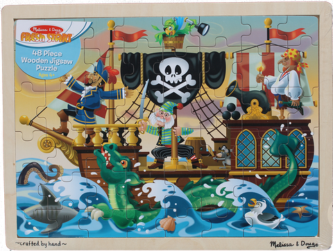 Item #: 121 - Mellisa & Doug Pirate Jigsaw Puzzle