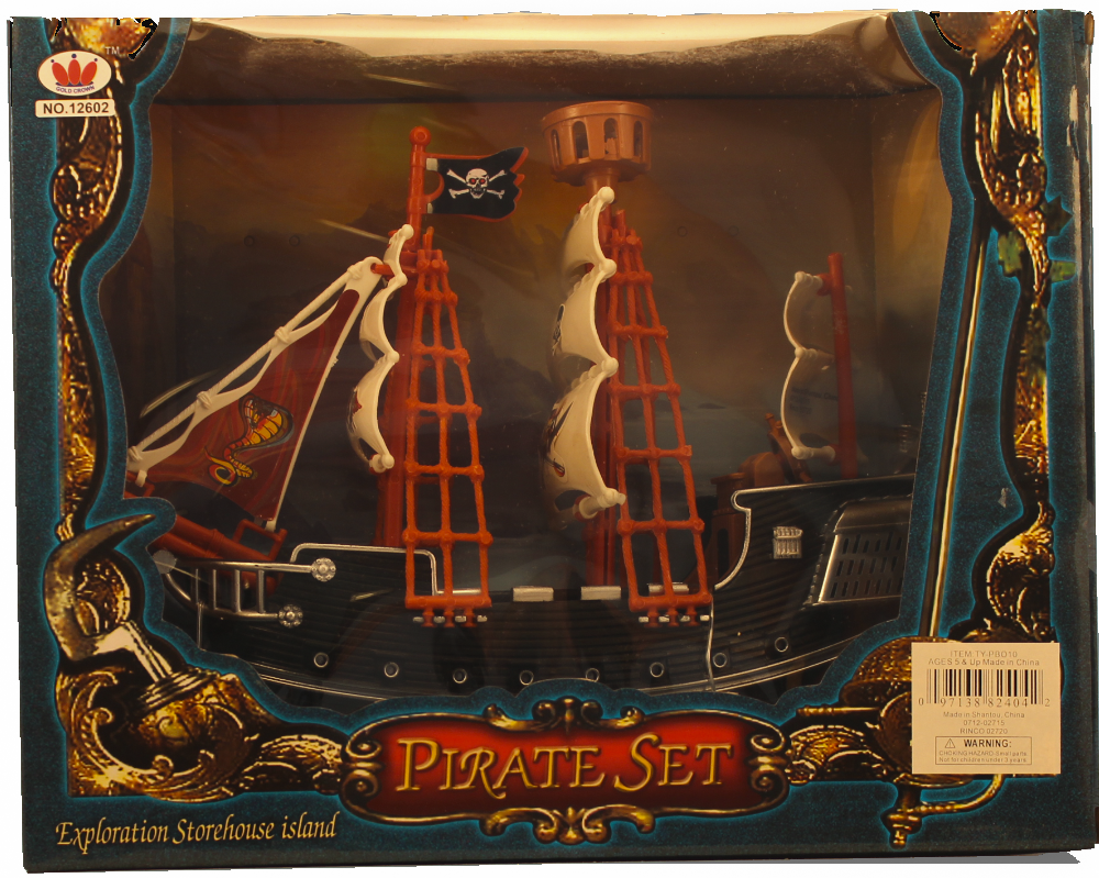 Item #: 128 - Pirate Ship type Spanish Galleon