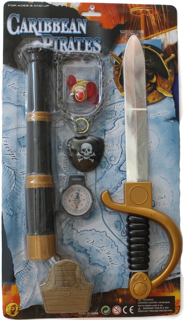 Item #: 126 - Caribbean Pirate Dagger and Telescope Set