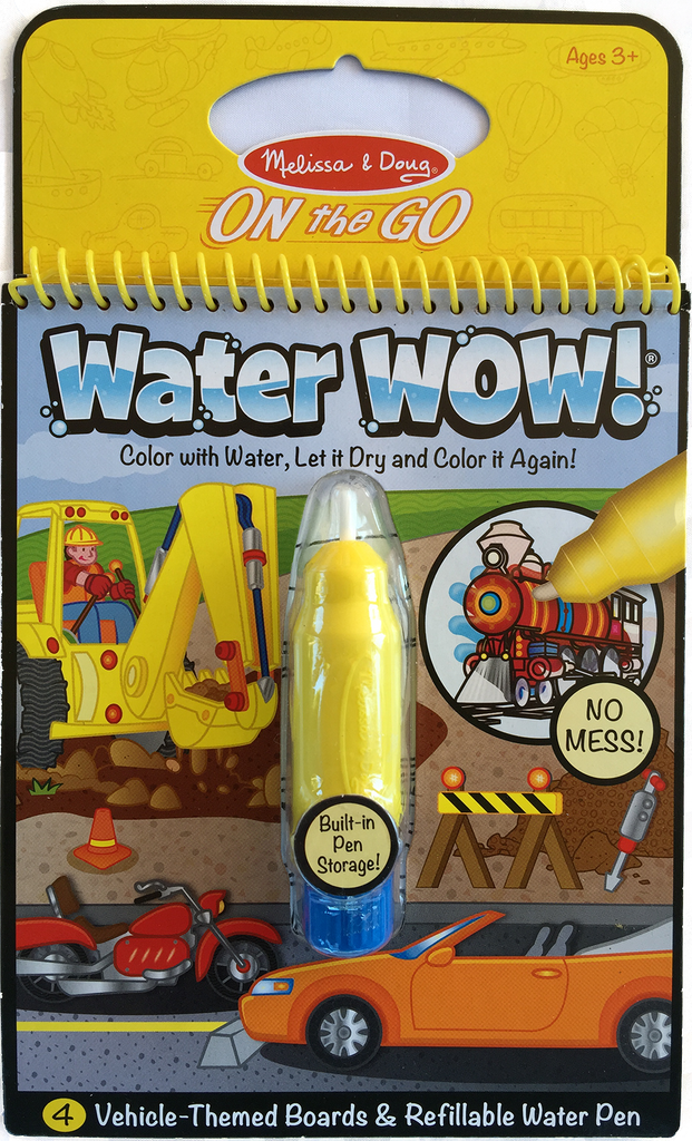 Item #: 310 - Melissa & Doug Water Wow Coloring Book - Vehicles ...