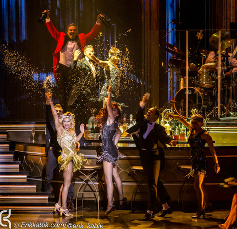 MiniFetti splashes as champagne in the Las Vegas production of Baz: Star Crossed Love