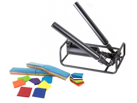 RC2 Twin Barrel Professional Confetti and Streamer Cannon for sale and rent