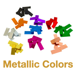 Times Square Confetti metallic color options