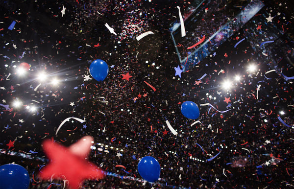 Times Square Confetti's Stars & Stripes special effect showers the 2016 GOP Convention