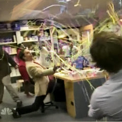 Kabuki Handthrow Streamers on The Office.