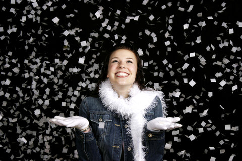Confetti Snow: Biodegradable White Tissue Squares