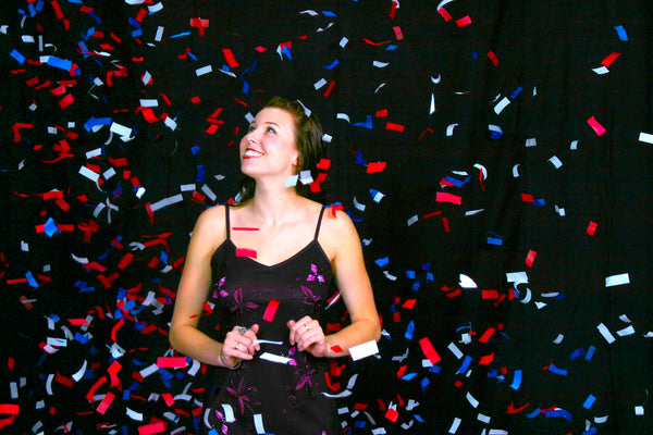 Bulk Confetti: Red White Blue Tissue Flutter