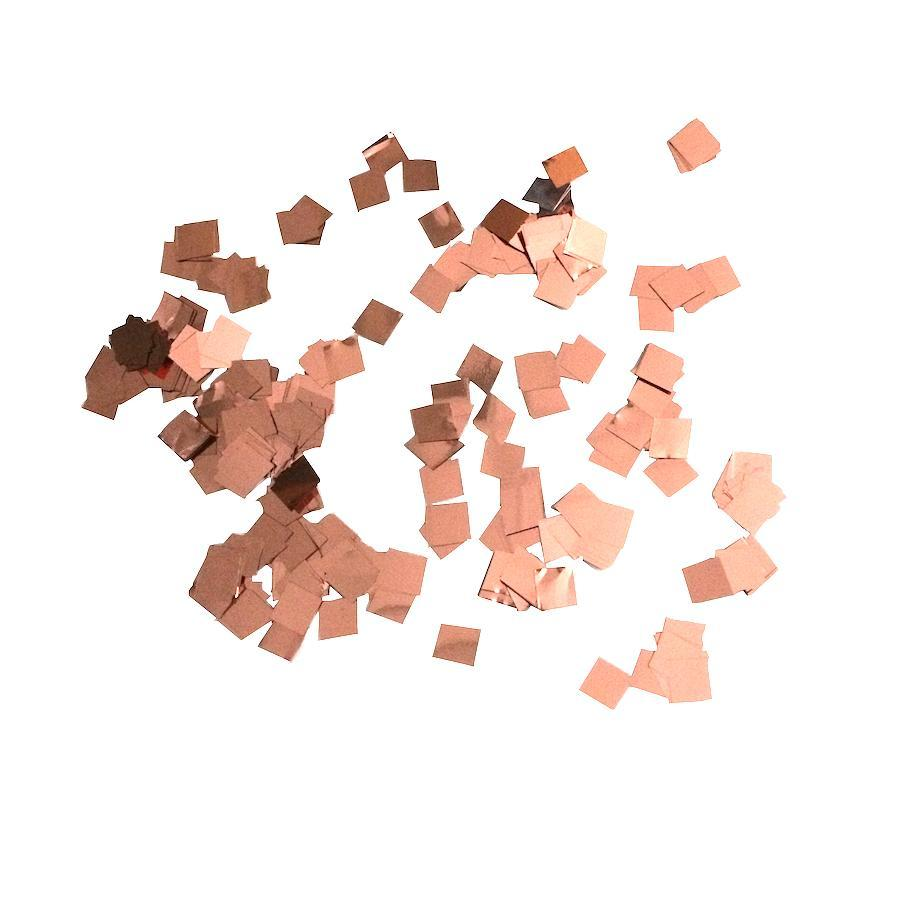 Times Square Confetti & Kabuki Confetti 1 Pound / Metallic / Rose Gold/Copper MiniFetti - Metallic Rose Gold Squares by the Pound