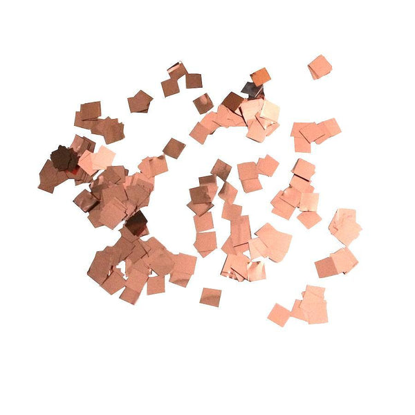 Times Square Confetti & Kabuki Confetti 1 Pound / Metallic / Rose-Gold/Copper MiniFetti - Metallic Rose Gold Squares by the Pound