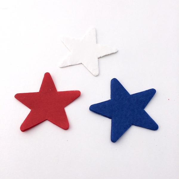 Times Square Confetti & Kabuki Confetti 1 Pound / Red White Blue / 2