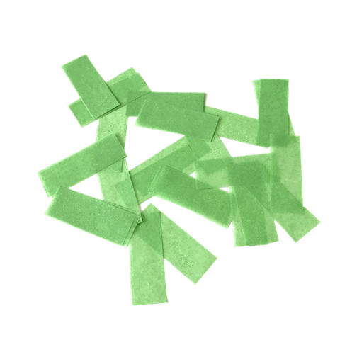Times Square Confetti & Kabuki Confetti Apple Green / 1 lb bulk / Biodegradable Tissue Apple Green Confetti: Biodegradable Fluttering Rectangles, 1 Pound Bulk