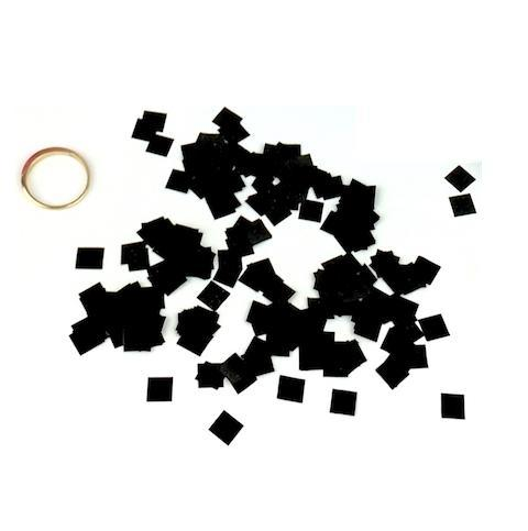 Times Square Confetti & Kabuki Confetti Black MiniFetti - Metallic Black Squares by the Pound