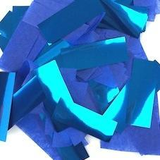 Times Square Confetti & Kabuki Confetti Blue / 1 Pound / Metallic Tissue Mix Blue Confetti: Flashy Metallic-Tissue Mix in Bulk