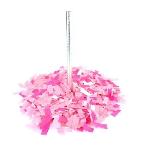 Times Square Confetti & Kabuki Confetti Confetti Hand-Launch Flick Sticks: Bright Pinks