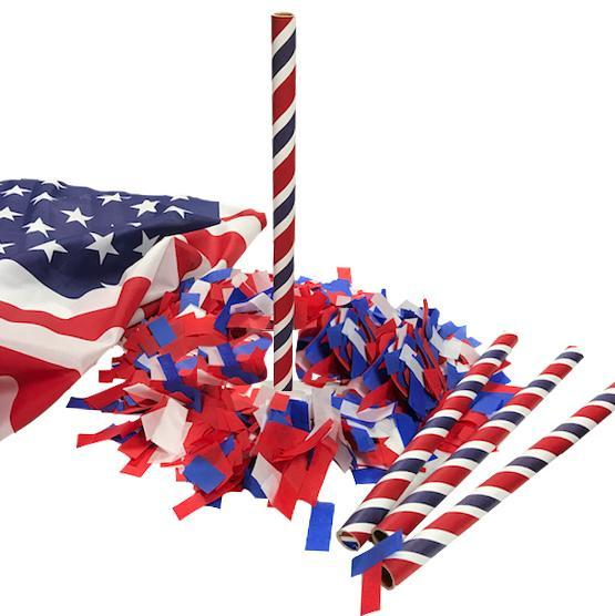 Times Square Confetti & Kabuki Confetti Confetti Hand-Launch Flick Sticks: Red, White & Blue