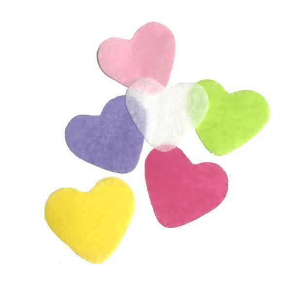 Times Square Confetti & Kabuki Confetti Confetti Hearts: Spring Colors, by the Pound