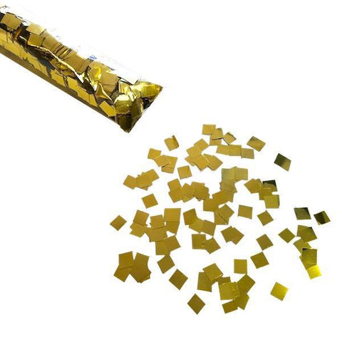 Times Square Confetti & Kabuki Confetti Gold / 12-Pack MiniFetti: Brilliant Metallic in Solid Color Sleeves - 12 Pack