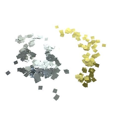 Times Square Confetti & Kabuki Confetti Gold and Silver / 1 Pound / 1/4