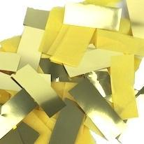 Times Square Confetti & Kabuki Confetti Gold Yellow Mix / 1 Pound / Metallic Tissue Mix Gold & Yellow Confetti: Flashy Metallic-Tissue Fluttering Rectangles, in Bulk