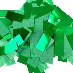 Times Square Confetti & Kabuki Confetti Green / 1 Pound / Metallic Tissue Mix Green Confetti: Flashy Metallic-Tissue Rectangles, in Bulk