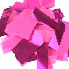 Times Square Confetti & Kabuki Confetti Hot Pink / 1 Pound / Metallic Tissue Mix Hot Pink Confetti: Flashy Metallic-Tissue Rectangles, in Bulk