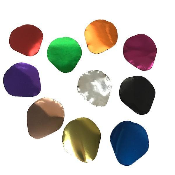 Metallic Confetti Rose Petals In 1 Pound Bulk