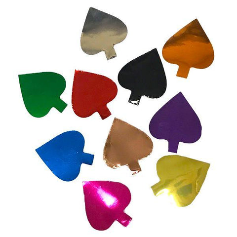 Times Square Confetti & Kabuki Confetti Metallic Confetti Spades, Clubs and Hearts in 1 Pound Bulk