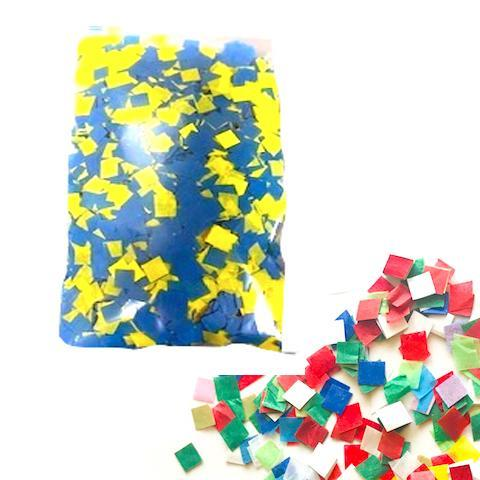 Times Square Confetti & Kabuki Confetti MiniFetti: Custom-Color Palm Packets in Bright Tissue, 24-Pack