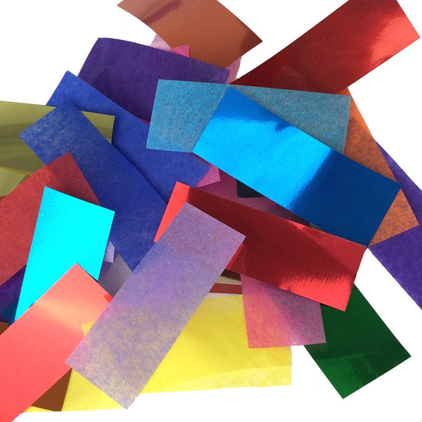 Times Square Confetti & Kabuki Confetti Multicolor / 1 lb / Biodegradable Tissue and Metallic Multicolor Confetti: Flashy Metallic-Tissue Mix, in Bulk