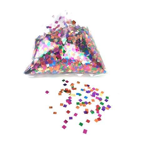 Times Square Confetti & Kabuki Confetti Multicolor / 1 Pound / Metallic MiniFetti - Metallic Multicolor Squares by the Pound