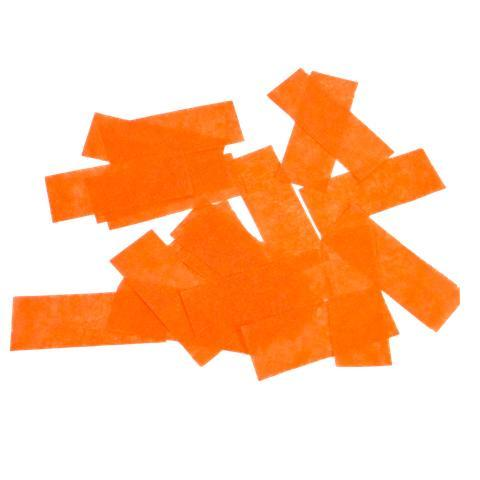 Times Square Confetti & Kabuki Confetti Orange / 1 lb bulk / Biodegradable Tissue Orange Confetti: Biodegradable Fluttering Rectangles, 1 Pound Bulk