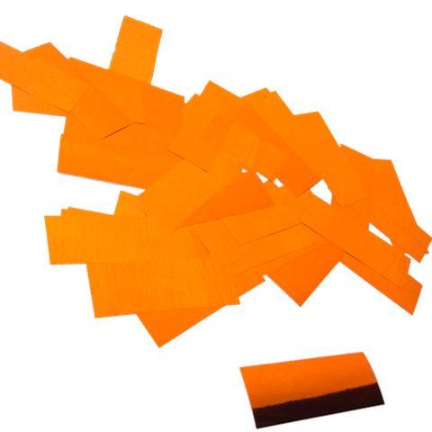 Times Square Confetti & Kabuki Confetti Orange / 1 Pound / Metallic Metallic Confetti: Bright Orange Fluttering Rectangles, in Bulk