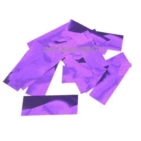 Times Square Confetti & Kabuki Confetti Purple / 1 Pound / Metallic Metallic Confetti: Brilliant Purple Fluttering Rectangles, in Bulk