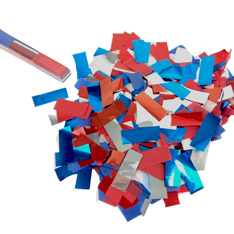 Confetti Streamers Red White Blue Collection Usa Factory