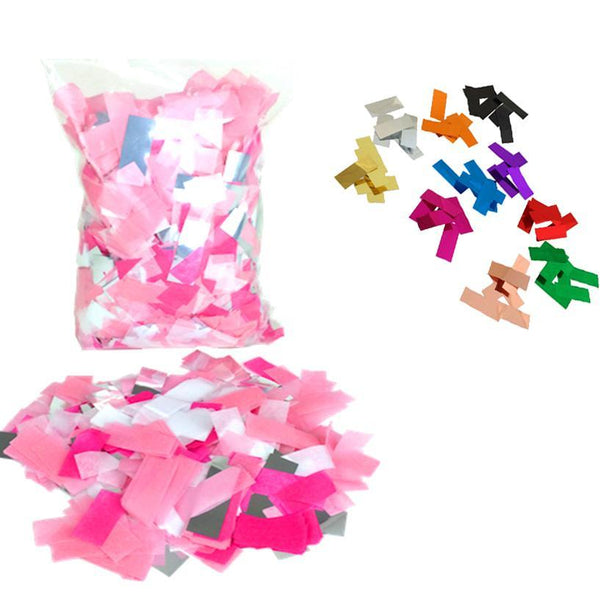 Times Square Confetti & Kabuki Confetti Your Custom Mix / 1 Pound / Metallic Tissue Mix Custom-Color Confetti: Flashy Metallic-Tissue Mix in Bulk