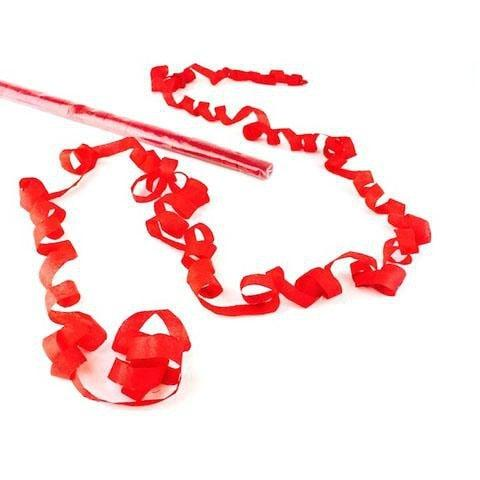 Times Square Confetti & Kabuki Streamer Confetti Confetti Streamers: Red 25' Tissue Speedloaders