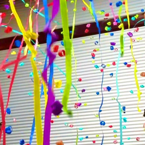 Times Square Confetti & Kabuki Streamer Confetti Kabuki Streamers & Bubbles in Launch Sleeves: Custom Color 12-Pack