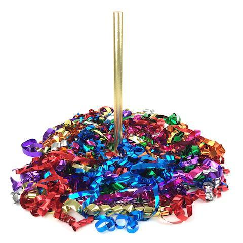 Times Square Confetti & Kabuki Streamer Confetti Metallic Streamer Hand-Launch Flick Sticks: Custom 12-Packs