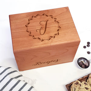 Custom Recipe Boxes & Editable Recipe Cards