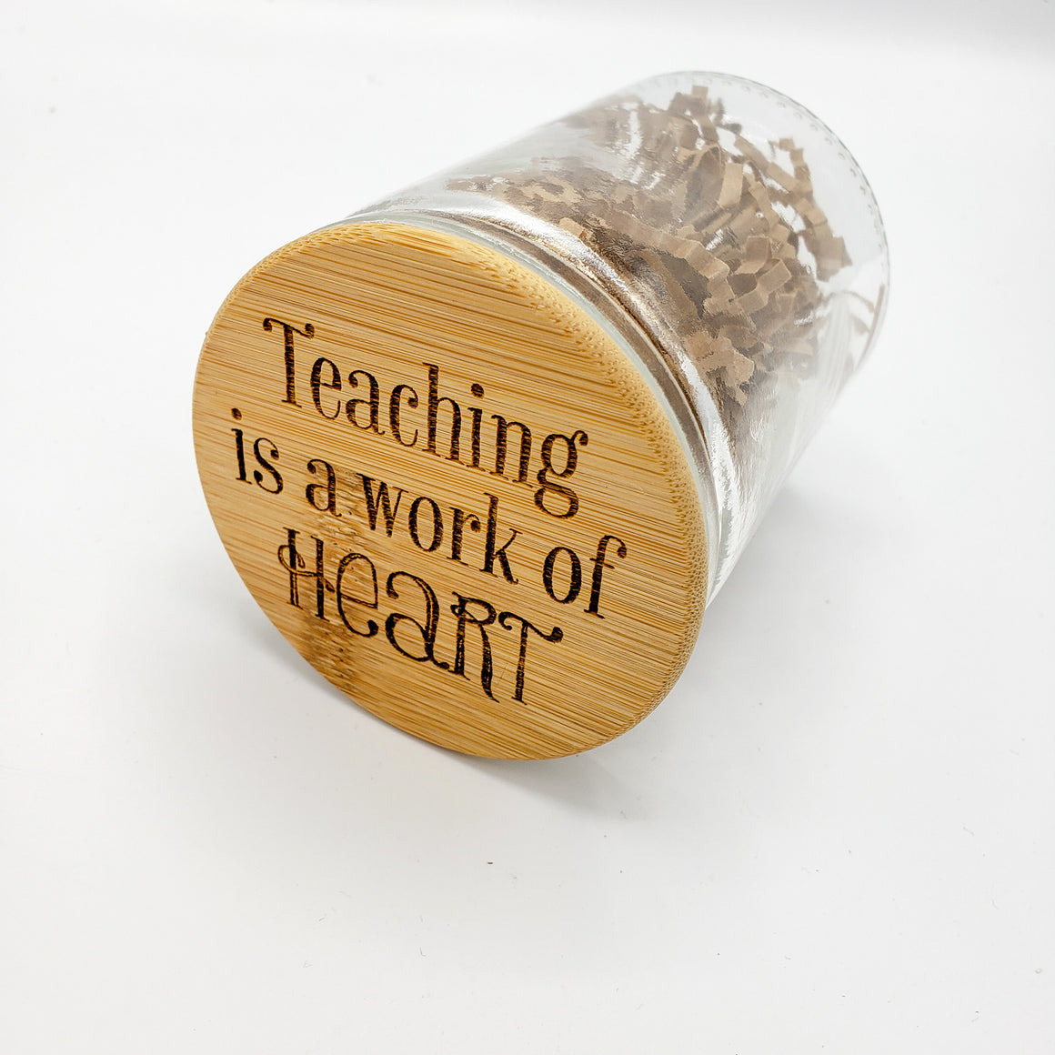 Teaching is a Work of Heart Candy Jar