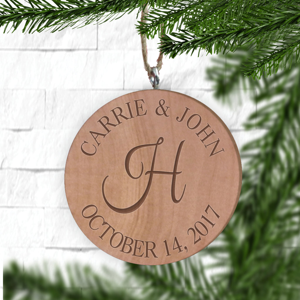 couple first christmas ornament personalized gallery