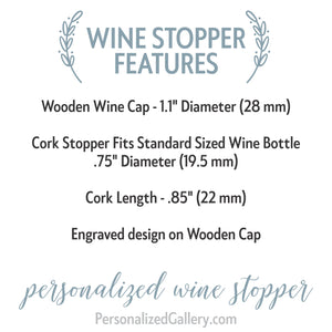 Love Laughter and Happily Ever After Personalized Wine Stopper