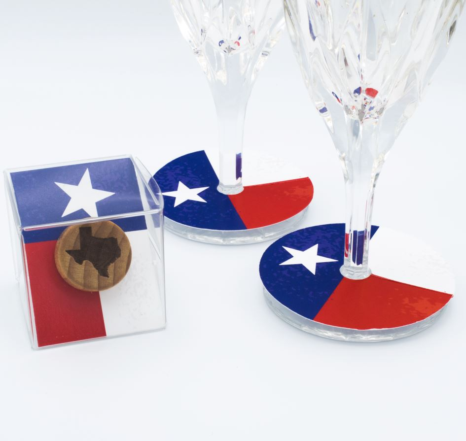 Texas Wine Stopper with Texas Flag Presentation Box