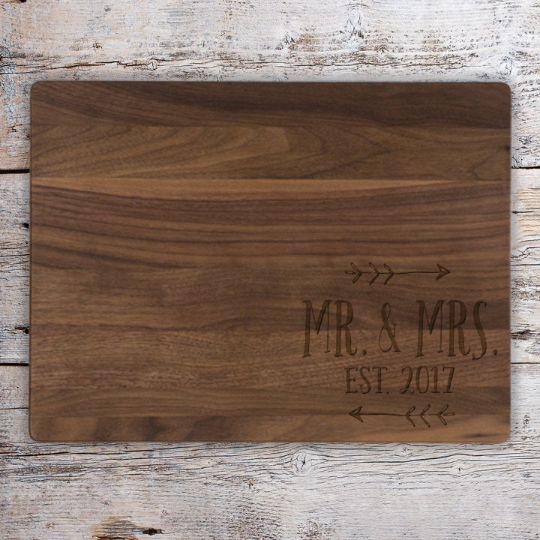 Mr. and Mrs. Arrow Cutting Board