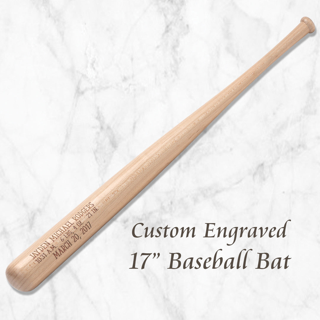 Baby Baseball Bat with Birth Stats