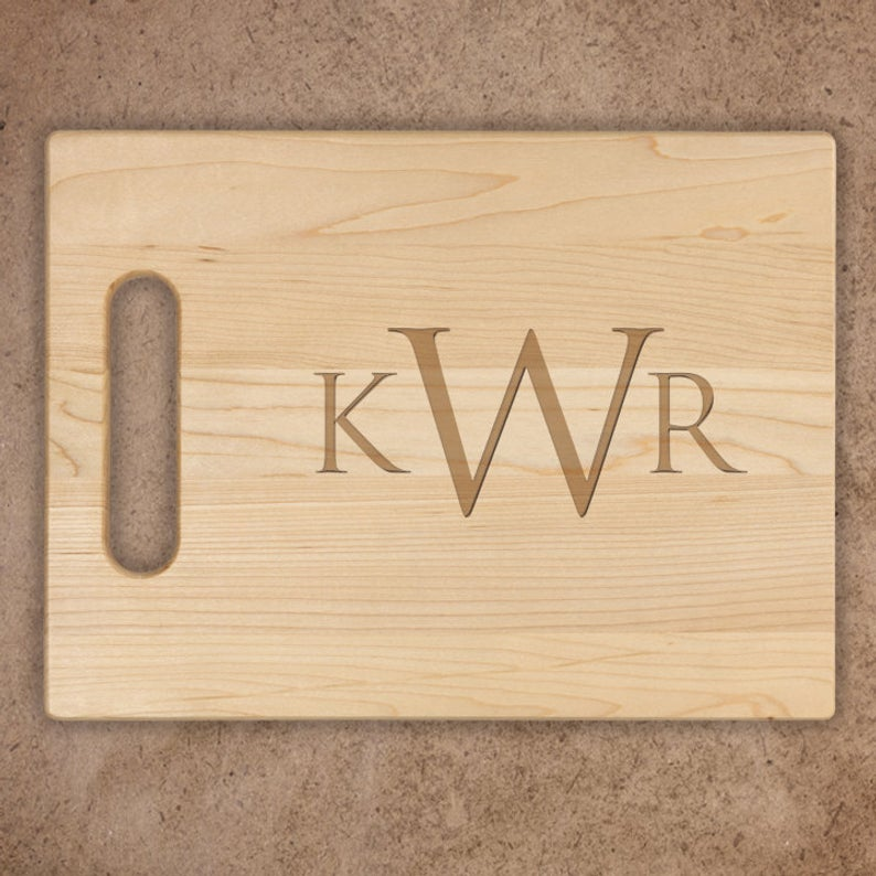 Block Monogram Cutting Board