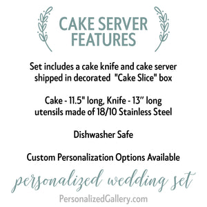 Monogram Cake Set, Two-Piece Serving Set