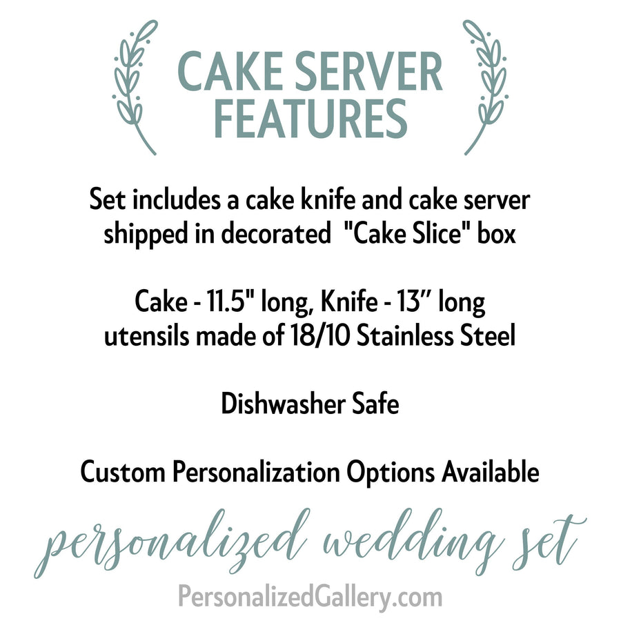 Engraved Wedding Cake Set