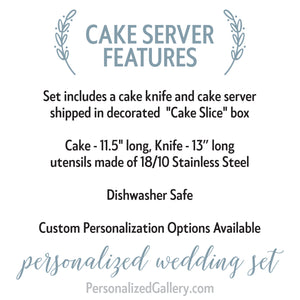 Mr and Mrs Cake Server Set