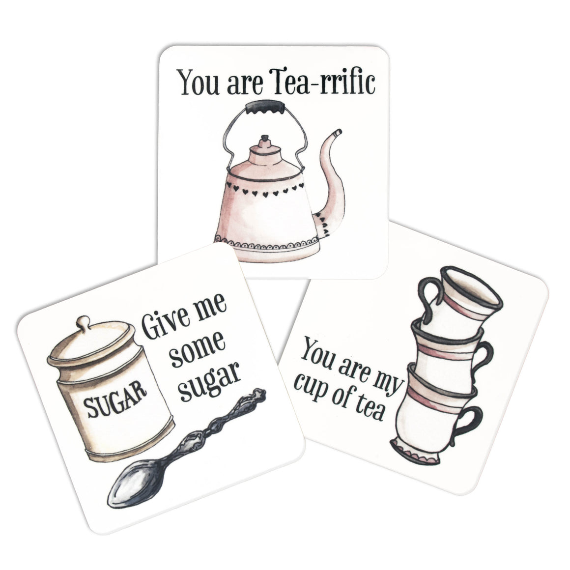 Tea Time Kitchen Magnets